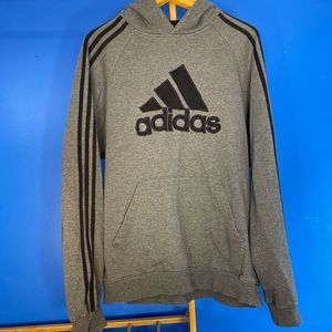 Adidas Big Logo Spell Out Pullover Hoodie